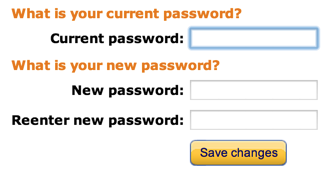 Amazon password entry